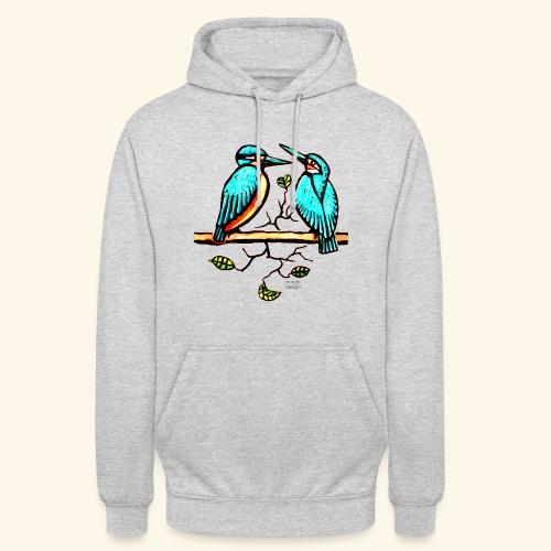 Eisvogel Paar farbe - Unisex Hoodie