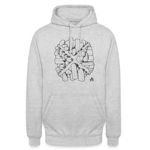 croix en perspective - Sweat-shirt à capuche unisexe