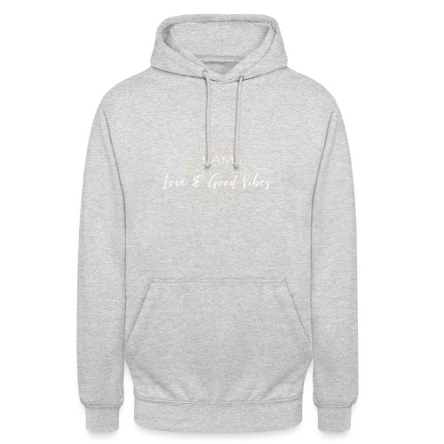 I am love and good vibes white gold - Unisex Hoodie