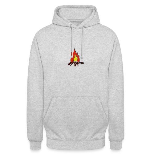 Fire color fuoco - Felpa con cappuccio unisex