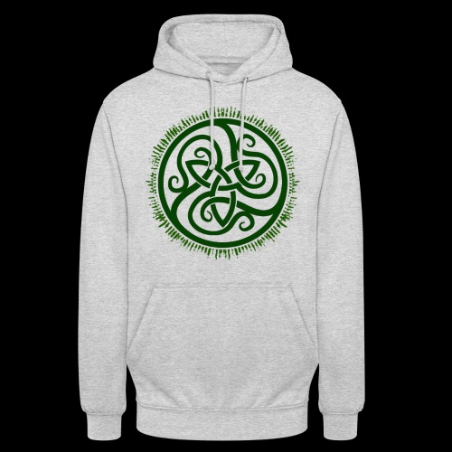 Green Celtic Triknot - Unisex Hoodie