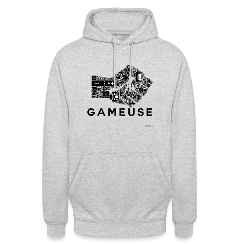 POING GAMEUSE - Sweat-shirt à capuche unisexe