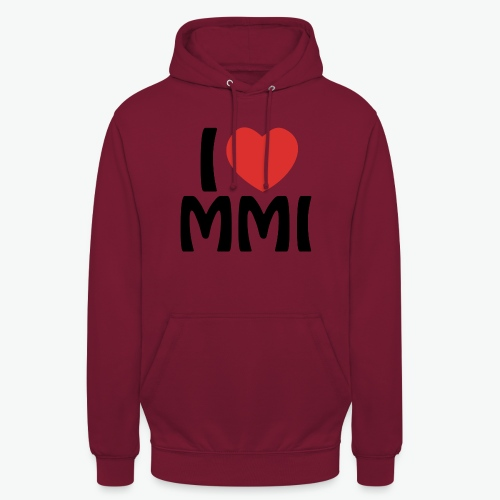 I love MMI - Sweat-shirt à capuche unisexe