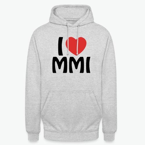 I love MMI - Sweat-shirt à capuche unisexe
