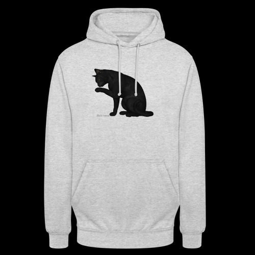 chat noir élégant - Sweat-shirt à capuche unisexe