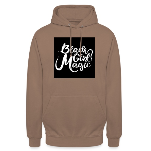 Black Girl Magic 1 White Text - Unisex Hoodie