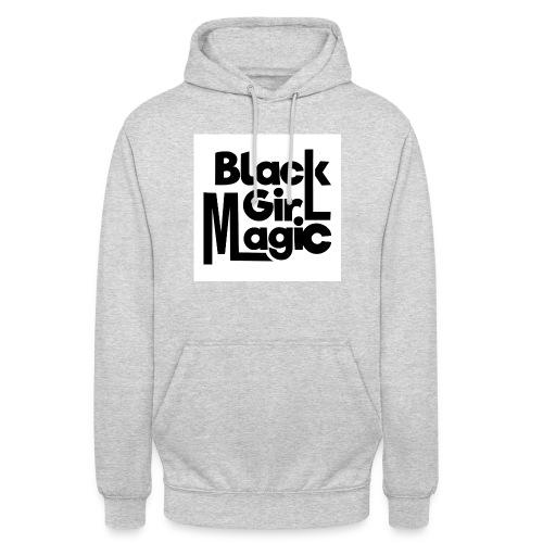 Black Girl Magic 2 Black Text - Unisex Hoodie