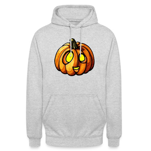 Pumpkin Halloween watercolor scribblesirii - Unisex Hoodie