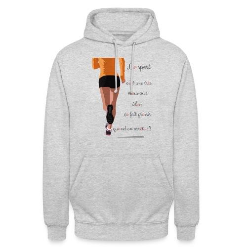 Sport et le régime - Sweat-shirt à capuche unisexe