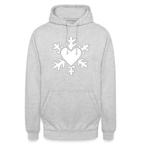 Flocon coeur 3D - Sweat-shirt à capuche unisexe