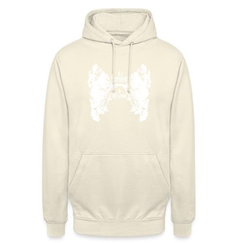 Oxygène blanc - Sweat-shirt à capuche unisexe