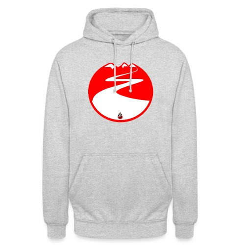 Montagne rouge - Sweat-shirt à capuche unisexe