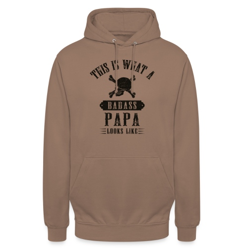 This Is What A Bad Ass Papa Looks Like - Unisex Hoodie