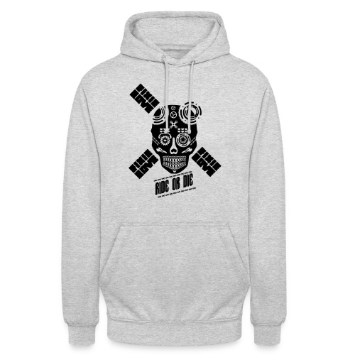 skull riding ride or die - Sweat-shirt à capuche unisexe