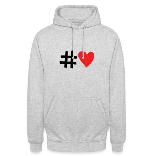 #Love - Hættetrøje unisex