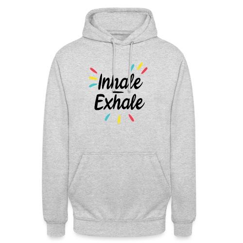 Inhale exhale - Sweat-shirt à capuche unisexe