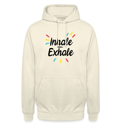 Inhale exhale - Sweat-shirt à capuche unisexe