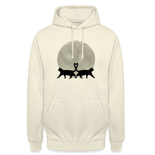 Cats in the moonlight - Hoodie unisex