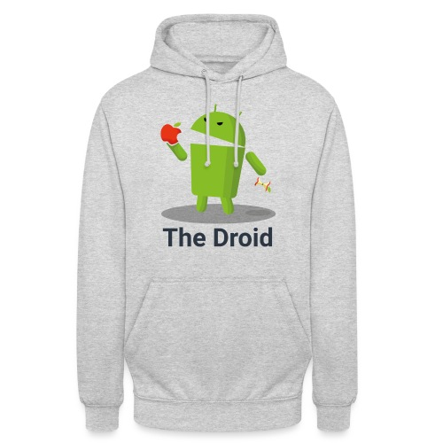 The Droid eats apple - Felpa con cappuccio unisex