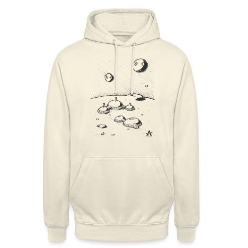 Moonbase Sketch ligne - Sweat-shirt à capuche unisexe