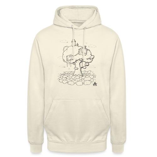 Cabane dans un arbre Sketch Line - Sweat-shirt à capuche unisexe