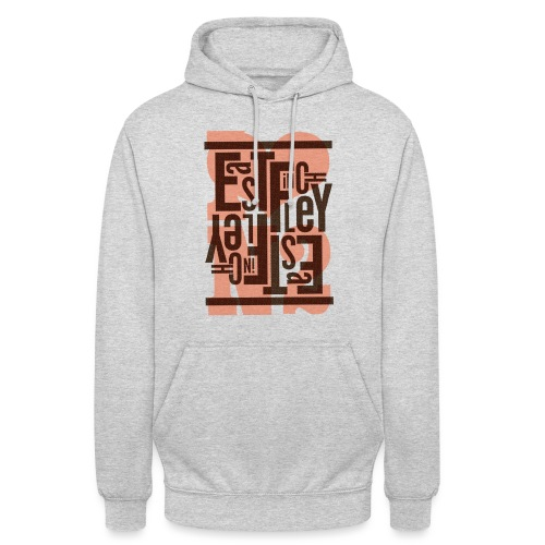 East Finchley Stacked Typography - Unisex Hoodie