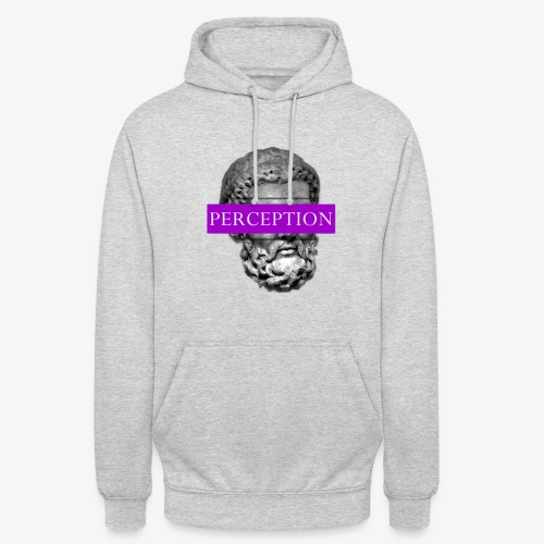 TETE GRECQ PURPLE - PERCEPTION CLOTHING - Sweat-shirt à capuche unisexe
