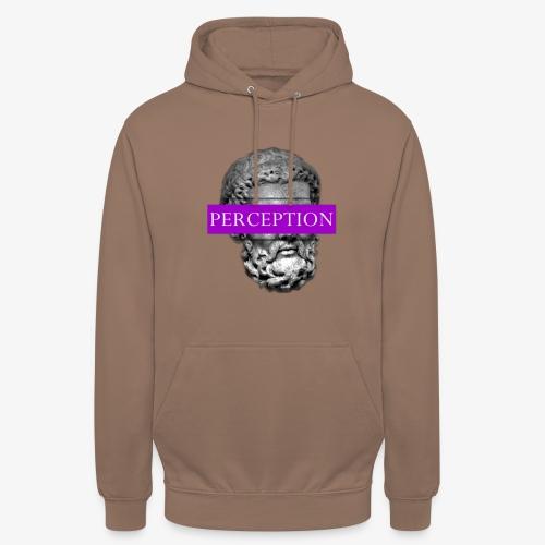 TETE GRECQ PURPLE - PERCEPTION CLOTHING - Sweat-shirt à capuche unisexe