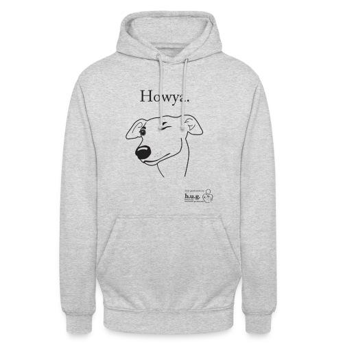 Howya Greyhound in black - Unisex Hoodie