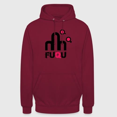 T-shirt FUQU logo colore nero - Felpa con cappuccio unisex