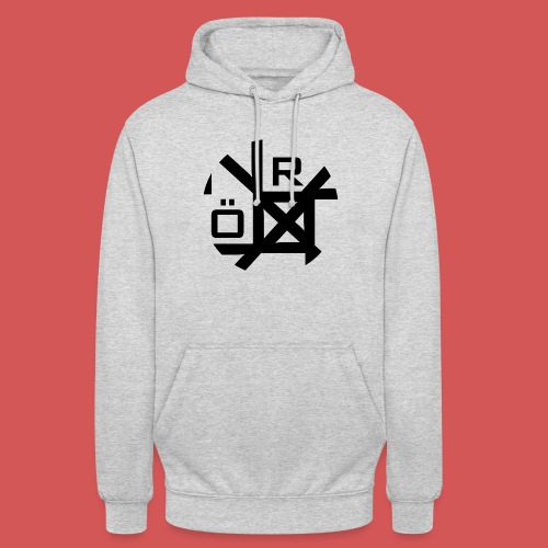 Nörthstat Group™ TecH | iCon - WHT.Knapsack - Unisex Hoodie