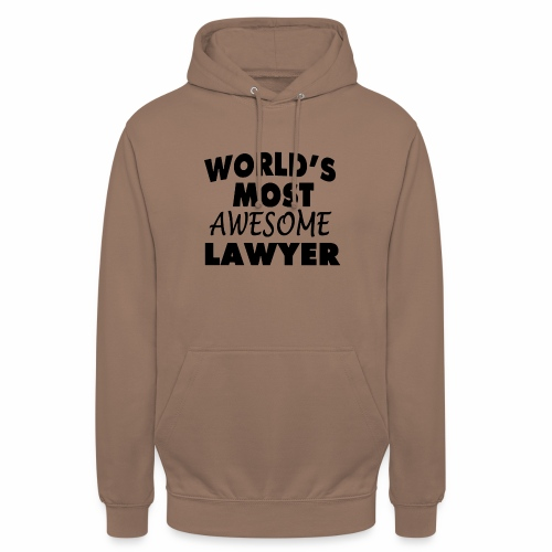 Black Design World s Most Awesome Lawyer - Unisex Hoodie