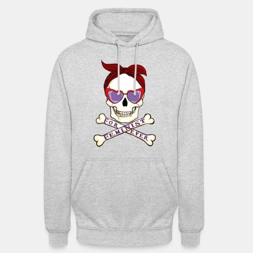Feminist skull - Sudadera con capucha unisex