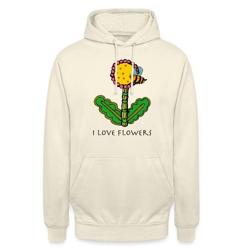 J'aime les fleurs - Sweat-shirt à capuche unisexe