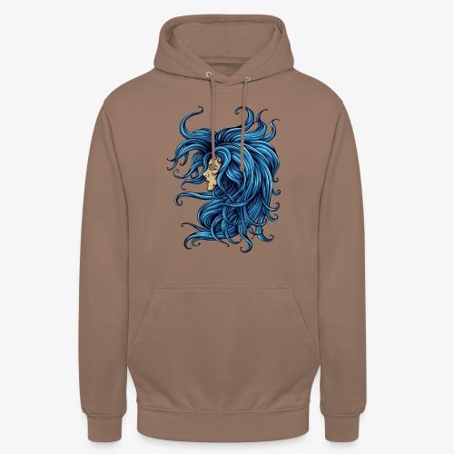 Dame dans le bleu - Sweat-shirt à capuche unisexe