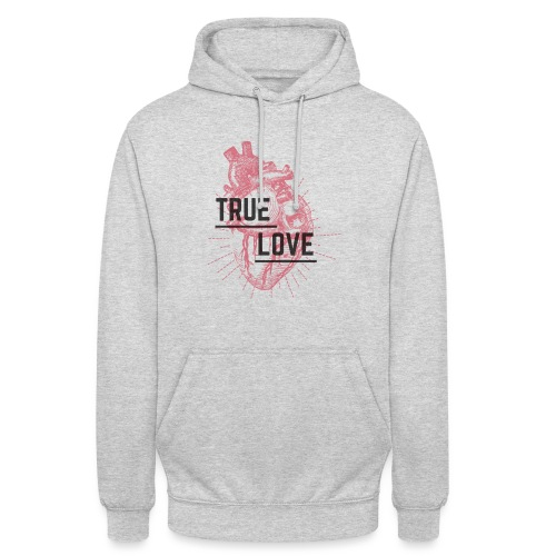 True Love - Felpa con cappuccio unisex