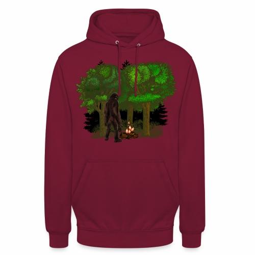 Bigfoot Campfire Forest - Unisex Hoodie