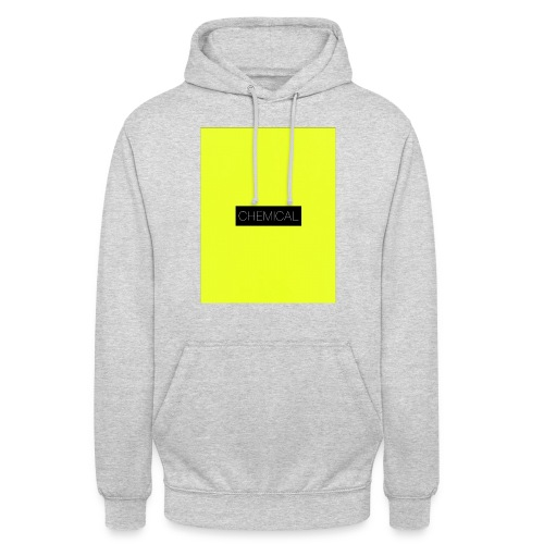 Yellow fluo - Felpa con cappuccio unisex