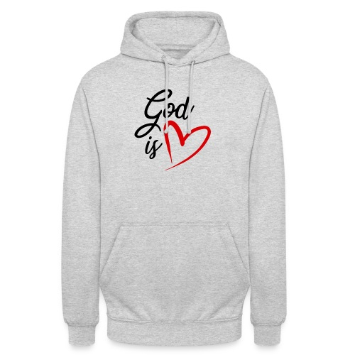 God is love 2N - Felpa con cappuccio unisex