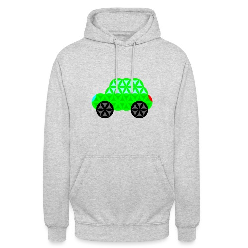 The Car Of Life - M01, Sacred Shapes, Green/R01. - Unisex Hoodie