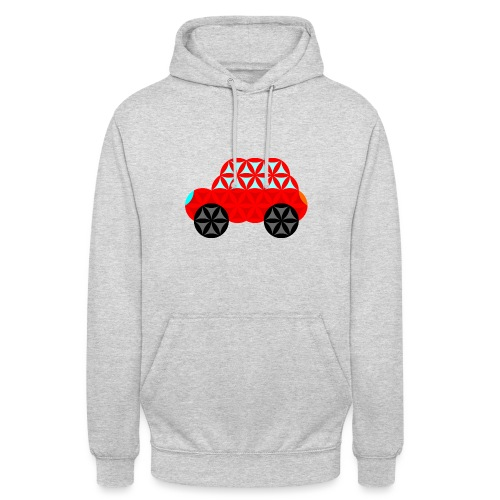 The Car Of Life - M01, Sacred Shapes, Red/R01. - Unisex Hoodie