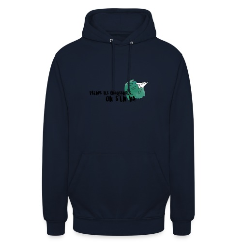 test - Sweat-shirt à capuche unisexe