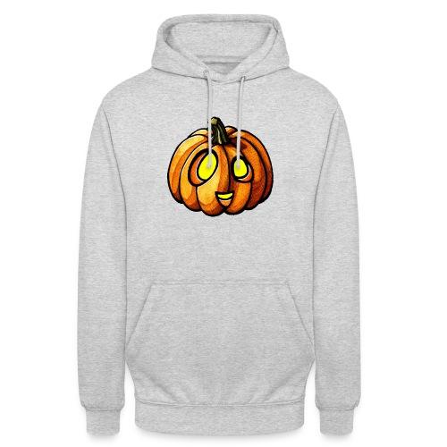 Pumpkin Halloween watercolor scribblesirii - Hættetrøje unisex