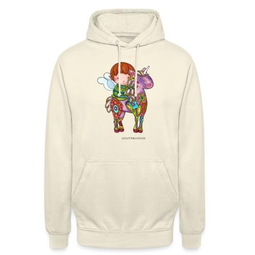 Nelf et sa licorne - Sweat-shirt à capuche unisexe