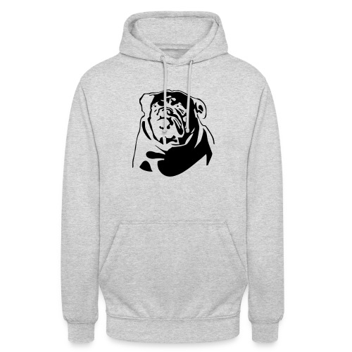 "English Bulldog - negative - Huppari ""unisex"""