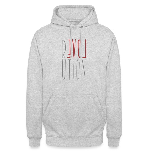 Love Peace Revolution - Liebe Frieden Statement - Unisex Hoodie