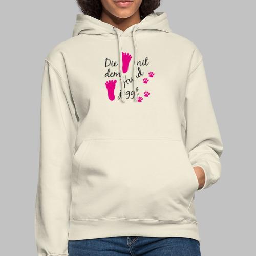 Die mit dem Hund joggt - Pink Edition - Unisex Hoodie