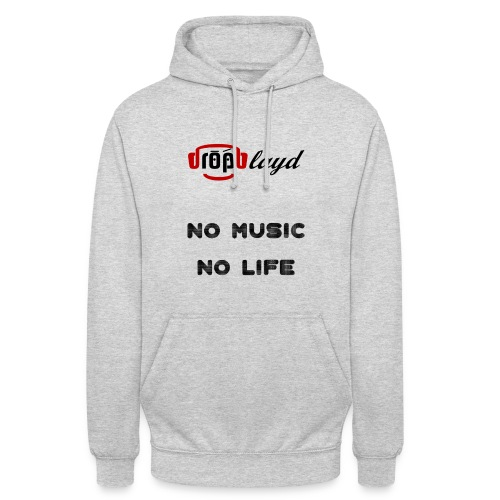 dropblayd Merch - No Music No Life - Unisex Hoodie