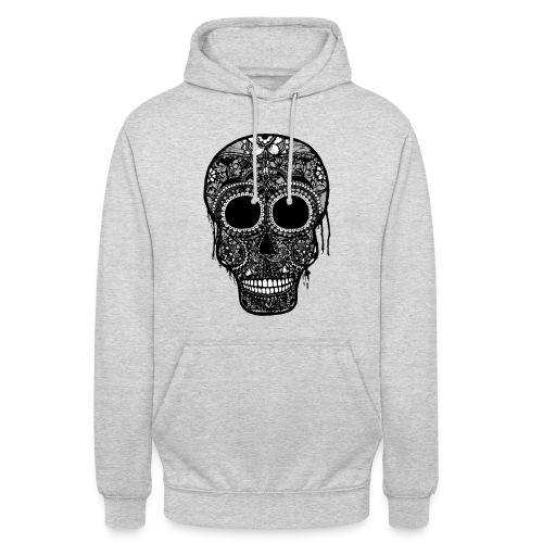SugarSkull Gris png - Sweat-shirt à capuche unisexe