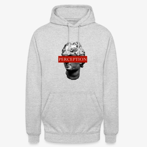 TETE GRECQ RED - PERCEPTION CLOTHING - Sweat-shirt à capuche unisexe